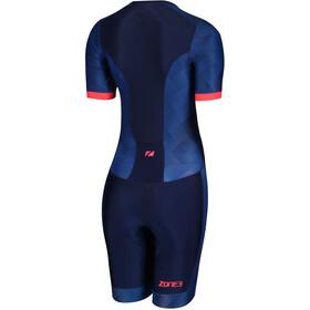Zone3 Activate Plus Kombinezon triathlonowy z krótkim rękawem Kobiety, revolution/navy/coral